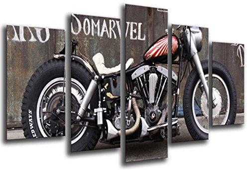 Cuadros Camara Poster Moderno Fotografico Moto Harley Davidson, Moto Antigua Vintage, 165...