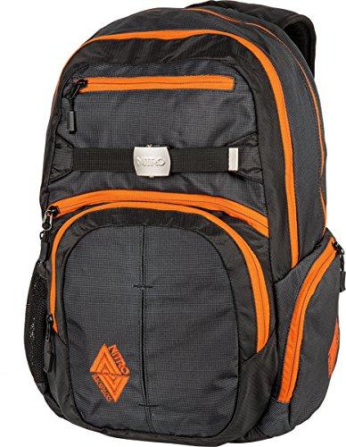 Nitro Snowboards Rucksack Hero Pack, Colore Nero (Black), Dimensioni: 23 x 38 x 52 cm, 37 Liter Multicolore (Blur Orange-Trims)