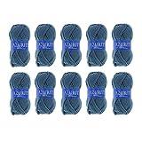 Distrifil - 10 pelotes de laine à tricoter Distrifil AZURITE 9702 pas cher 100%...