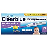 Clearblue Test di Ovulazione Digitale con Doppio Indicatore Ormonale, 10 Test Sticks