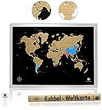 havalime Premium XXL Rubbel Weltkarte Scratch World Map Limited Edition 2018 Geschenkidee für Reisende 82 x 59 cm (Schwarz)