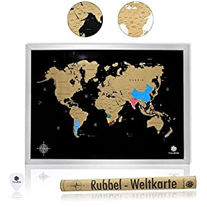havalime® Premium XXL mapamundi tarjeta – Scratch World Map – Limited Edition 2018 – Regalo Idea para los viajeros – 82 x 59 cm