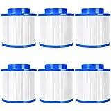 vengaconmigo Lot de 6 Cartouches Filtre pour Spa Gonflable 10x10x7,6 CM 1,15 KG...