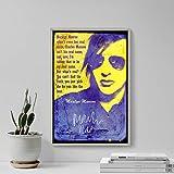 Marilyn Manson - Poster Photo (Avec Reproduction d'Autographe Signé) Oeuvre Imprimée Unique Cadeau 30x20 cm affiche