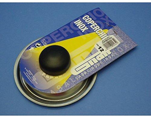 Coperchio in acciaio inox con pomolo per pentole casseruole con diam 12 Cm