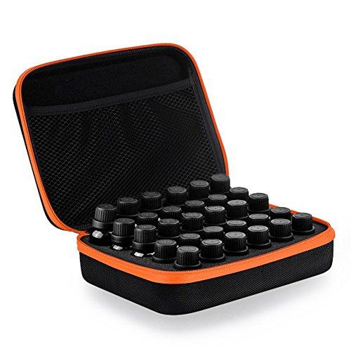 Fastar 30Flaschen EVA ätherischen Ölen Storage Case Paket Box Tasche für 5ml 10ml 15ml Flaschen ideal für Reisen Orange
