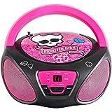 Sakar CD-Player Monster High für Kinder, FM-Radio, tragbar, batteriebetrieben, AUX-Eingang für iPhone, Android, iPod, MP3-Player