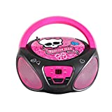 Sakar CD-Player Monster High für Kinder, FM-Radio, tragbar, batteriebetrieben, AUX-Eingang für iPhone, Android, iPod, MP3-Player