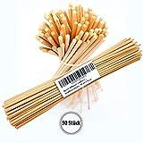 Difusor de Lámina Palos de Bambú de Repuesto 50pcs - 25cm - 3-5mm para Difusor de Aceite de Fragancia de Habitación - Aromas de Habitación