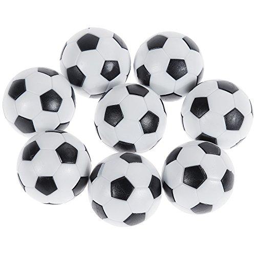 Goldge 8 PCS Tischfußball Kickerbälle,Tischfußball Kugeln Mini Ball,Schwarz und Weiß Pc-kugel
