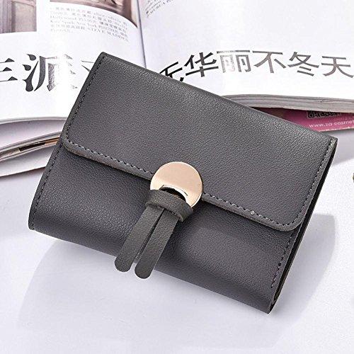 Portafoglio Donna, Tpulling Borsa della borsa della borsa della frizione della borsa del raccoglitore del cuoio delle donne (Gray) Dark Gray