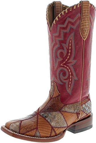Ariat Reese 21672 Rouge/Damen Westernreitstiefel Braun Rot/Reitstiefel/Westernstiefel/Western Riding Boots, Groesse:41 (7 UK) Damen-western-stiefel Größe 7