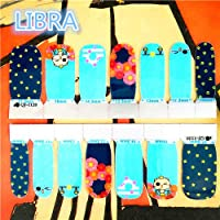 Veena Cool Fashion Nail Stickers Adhesive Nails Wraps Durable Waterproof 1-2 Weeks 12 Constellations Designs Libra