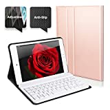 iPad MINI 4 Tastiera Bluetooth Staccabile QWERTY Italiano Layout Ultrathin Custodia con Regolazione Dell'angolo Anti Scivolo Protezione Completa per iPad Mini 4 (A1550/A1538)Rosa