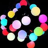 Yiizy 50LED 5Metro String con la sfera di cristallo Coperture per Ambiance Christmas Lights impermeabile per uso esterno in veranda, Percorso, giardino, uso interno nel partito, della camera da letto Luce Stringa LED per Esterni (Giallo)