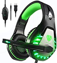 Cuffie Gaming con Microfono,3.5mm Cuffie da Gaming con Cancellazione del Rumore, Stereo Bass per PS4, Xbox One