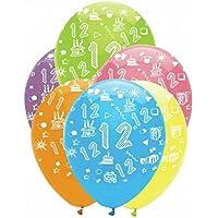 Age 12 Latex Balloons - Bright Mix 6pk