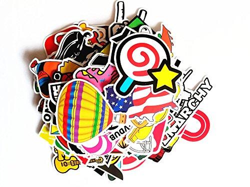 Aufkleber Pack,Graffiti Sticker Decals Vinyls für Laptop, Kinder, Autos, Motorrad, Fahrrad, Skateboard Gepäck, Bumper Sticker Hippie Aufkleber Bomb wasserdicht (210 Stücke) (Uhr Bumper)