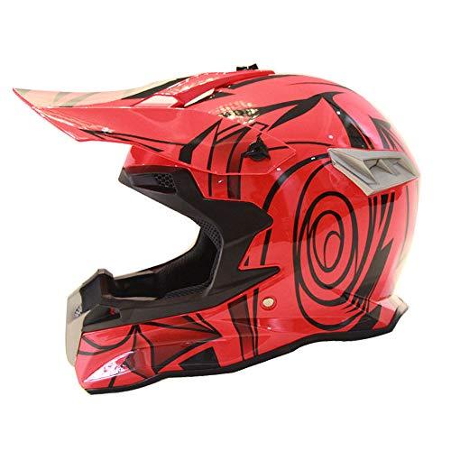 Pn&cc Casco da Cross Motocross, Serie D.O.T Carting Set da Moto off-Road Downhill Quad MX ATV Uomo E Donna,D,XL