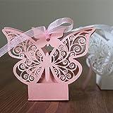 50 Schmetterling Hochzeit Baby Dusche Ausschnitt Candy Box Kleine Geschenke Geschenk-Box mit...