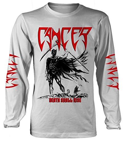 Cancer 'Death Shall Rise' (White) Long Sleeve Shirt (XX-Large)