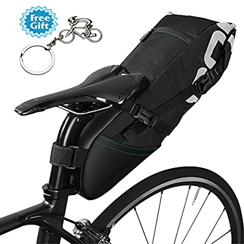 West Biking Vélo Sacs de 10L résistant à l'eau Vélo Sacs de vélo Selle de vélo Tail Siège arrière Sacs de rangement accessoires de VTT, Homme Enfant femme, 10L Basic