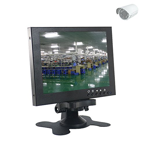 Sourcingbay 7 TFT LED CCTV Monitor BNC VGA AV feedback Security Metal Monitor panel show safety Security