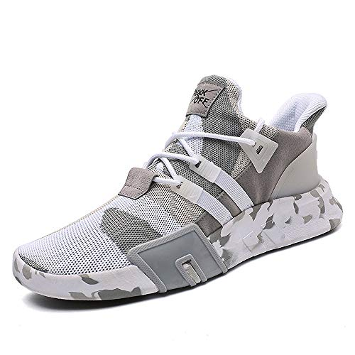 Beikoard Herren Schuhe Leichte Laufschuhe Camouflage Schnürschuhe Männer Jungen Casual Sneakers Sportschuhe Laufschuhe Basketballschuhe