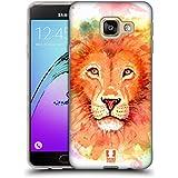 Head Case Designs Lion Aquarelle D'animaux Étui Coque en Gel molle pour Samsung Galaxy A3 (2016)