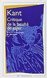 Critique de la faculté de juger / Emmanuel Kant | Kant, Emmanuel (1724-1804). Auteur