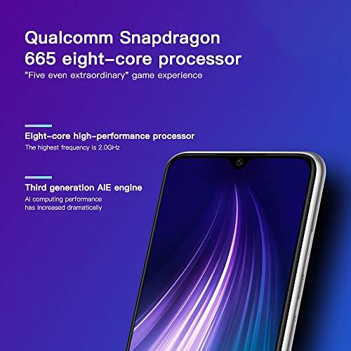 Xiaomi Redmi Note 8 - Smartphone 64GB, 4GB RAM, Dual Sim, Moonlight White