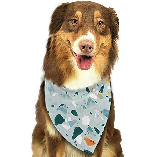 YAGEAD Hund Bandana Welpe und Haustier Bandanas, Terrazzo Bodenbelag Haustier Schal
