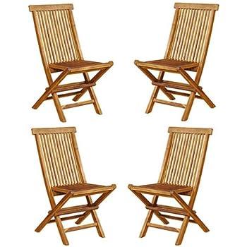 chaises de jardin pliante en teck huilé: Amazon.fr: Jardin