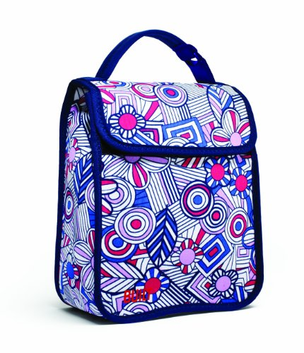 Built NY Lunch Sack Mosaic Flower, Blue