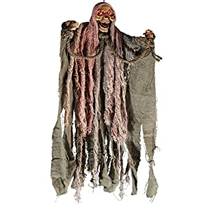 Carnival Toys - Esqueleto para colgar, sonoro, con cuerdas y con ojos luminosos, 40 cm, multicolor (8986)