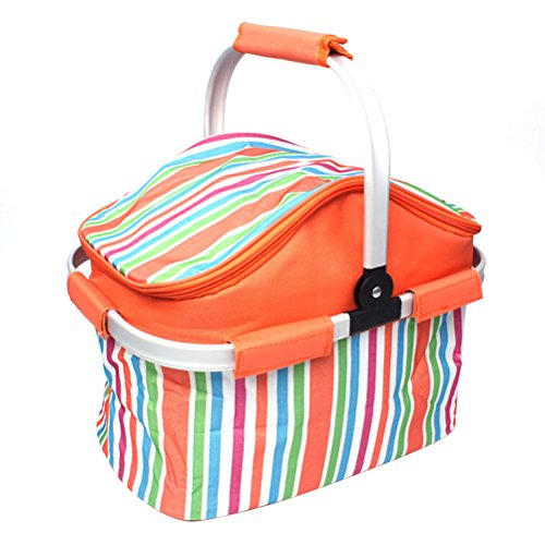WINOMO Isolierte Picknicktasche Lunch Bag für Outdoor Picknick BBQ Urlaubsparty