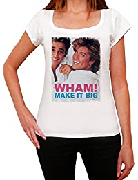 George Michael Wham! Melrose Tshirt, T-Shirt Femme, manche courte, cadeau