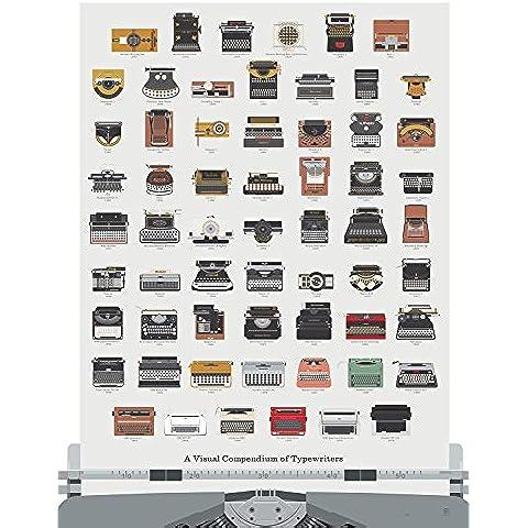Macchina da scrivere Arte stampa poster - Un compendio visivo di macchine da scrivere Poster Stampa, 18 x 24, dal POP CHART Lab - Regalo per scrittori