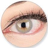 Graue Hellgraue Kontaktlinsen Jasmin Lightgrey ohne Stärke-für Braune Dunkelbraune Grüne Blaue Schwarze Dunkle Augen. 2 Farbige Graue 3 Monatslinsen - Glamlens by MeralenS - 0.0 Dioptrien