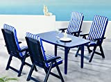 BEST 96296824 9-teilig Komplett Set Santiago, Gartenmöbel, D.0268, blau