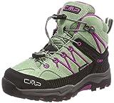 CMP Rigel Mid Wp Unisex-Kinder Trekking-& Wanderschuhe, Grün (Linfa-Hot Pink), 31 EU
