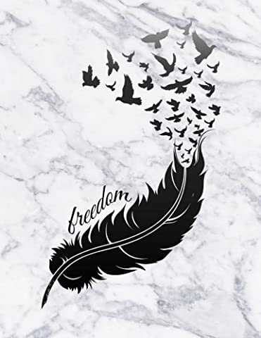 Freedom: An Inspirational Notebook, Diary and Journal - Black Bird