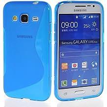 Funda para SAMSUNG GALAXY CORE PRIME G360F GEL TPU Diseño S-Line Color AZUL