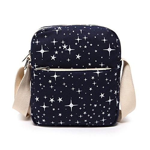 WanYang 3 Stück /2 Stück Freizeit Canvas Rucksack Studententasche Laptop Rucksack Schulbeutel Fashion Schultertasche Saphirblau