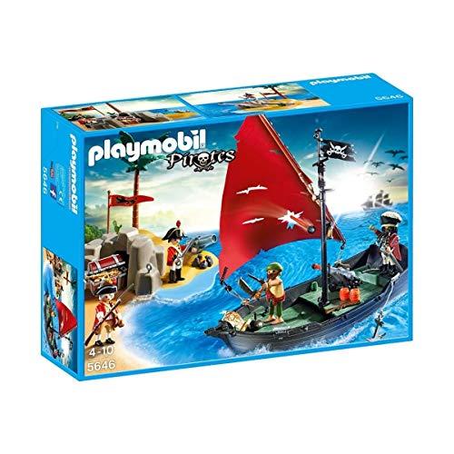 Playmobil Piratas 5646- Isla y Barco