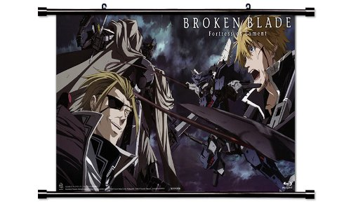 Broken Blade Anime Fabric Wall Scroll Poster (32 x 18) Inches