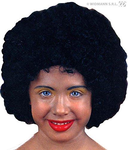 Unbekannt Générique pe927-Perücke Afro schwarz Kinder Flamme Brandhemmer-Einheitsgröße (Perücke Schwarz Kinder)