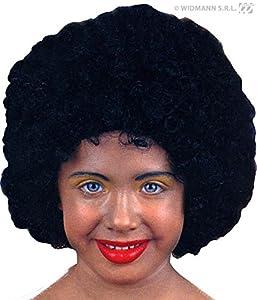 WIDMANN Générique?pe927?Peluca Afro Negro niño Llama Retardant?Talla única