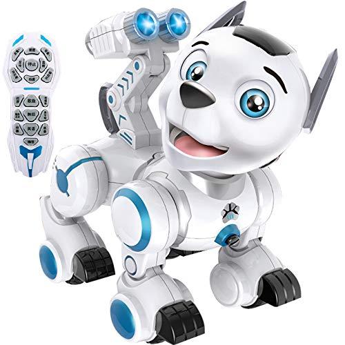 RCTecnic Perro Robot Teledirigido para Niños que Patrulla, Programa Acciones y Movimiento,...