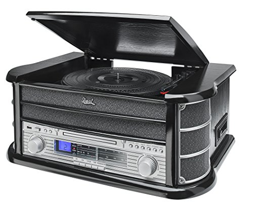Dual 75213 NR 4 Nostalgiekompaktanlage Schwarz